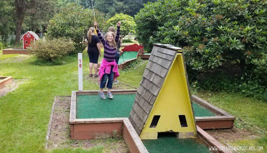 Mini Golf at the Thunderbird RV & Camping Resort