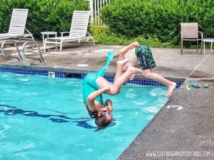 Swimming at the Thunderbird RV & Camping Resort