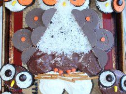 Owl Cupcake Cake and Baby Owl Cupcakes