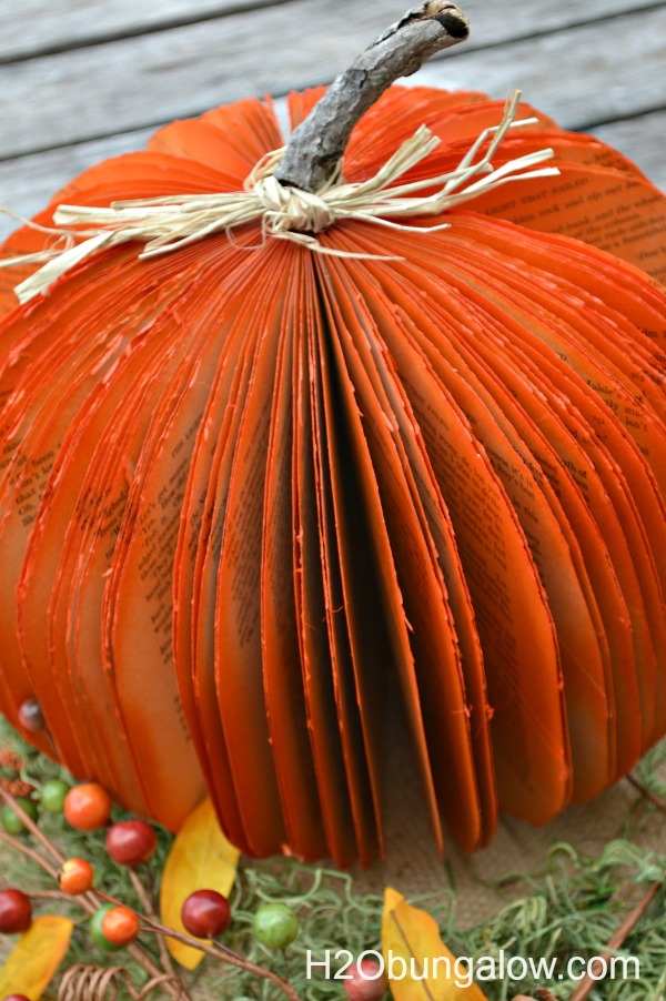 Easy DIY Book Pumpkin - Halloween Crafts
