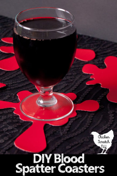 Blood Spatter Coasters - Halloween Crafts