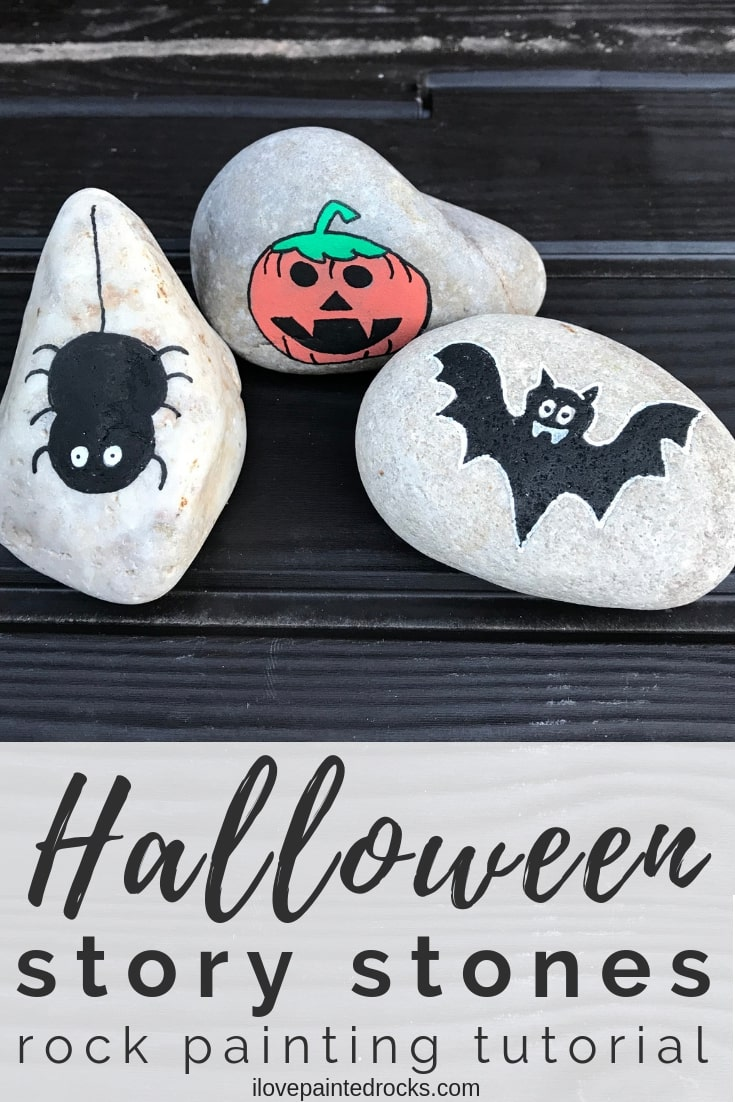 Easy Halloween Rock Painting Idea - Halloween Crafts