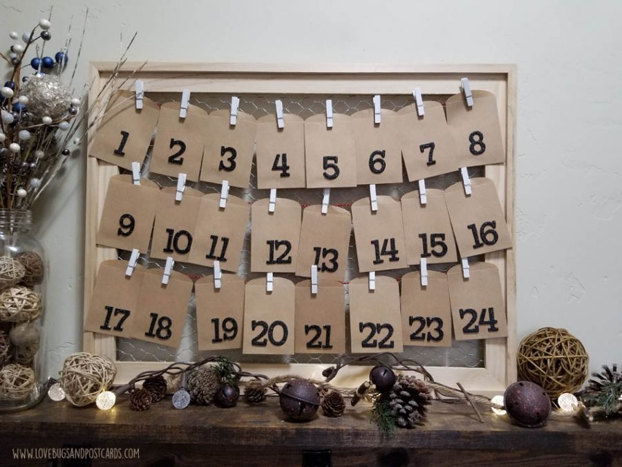 Farmhouse Advent Calendar DIY