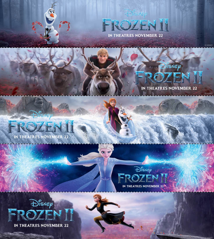 Frozen 2 Bookmarks