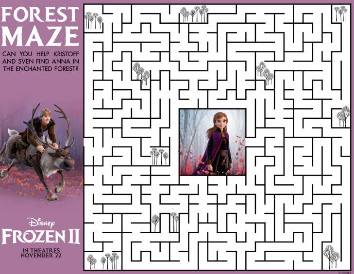 Frozen 2 Maze