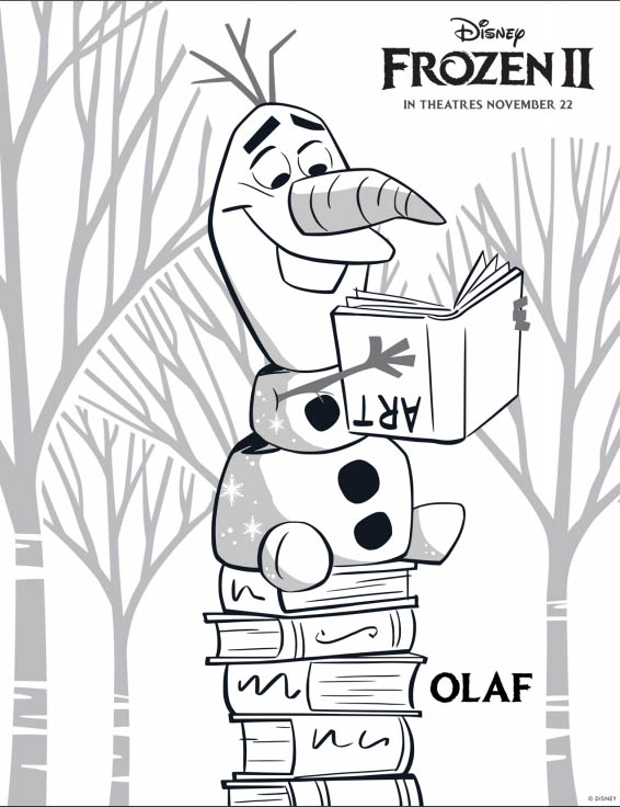 Disney's FROZEN 2 Coloring Pages - Olaf
