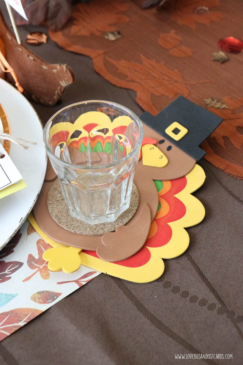 Turkey Coasters Craft for kids