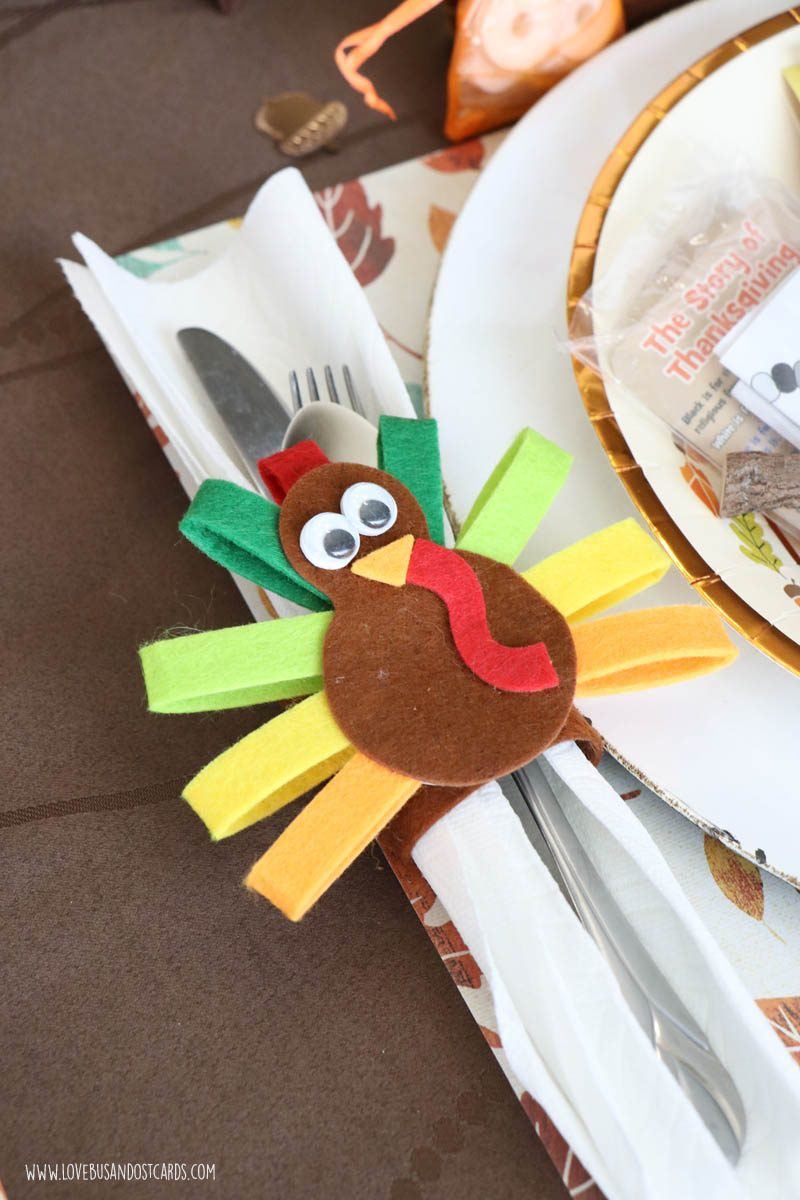 Turkey Napkin Ring Craft for Kids
