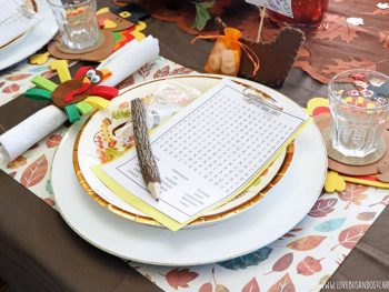 Thanksgiving Printables and Table settings for kids