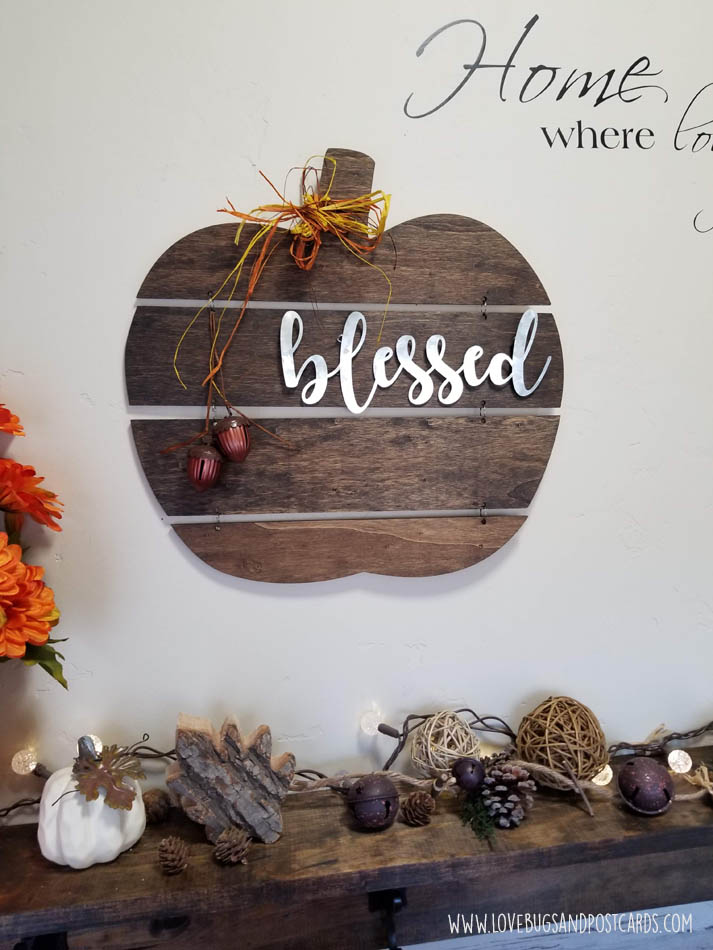 DIY Wood Pumpkin Sign