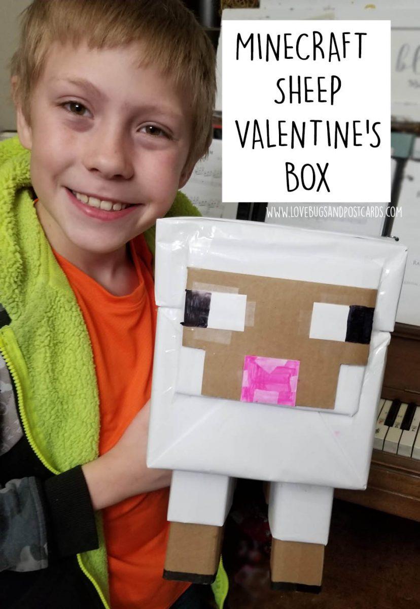 Minecraft Sheep Valentine's Box