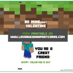 Minecraft Valentine Card Printables