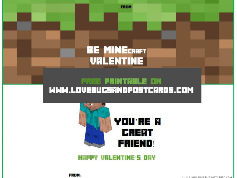 It's just a photo of Minecraft Printable Valentines for kid