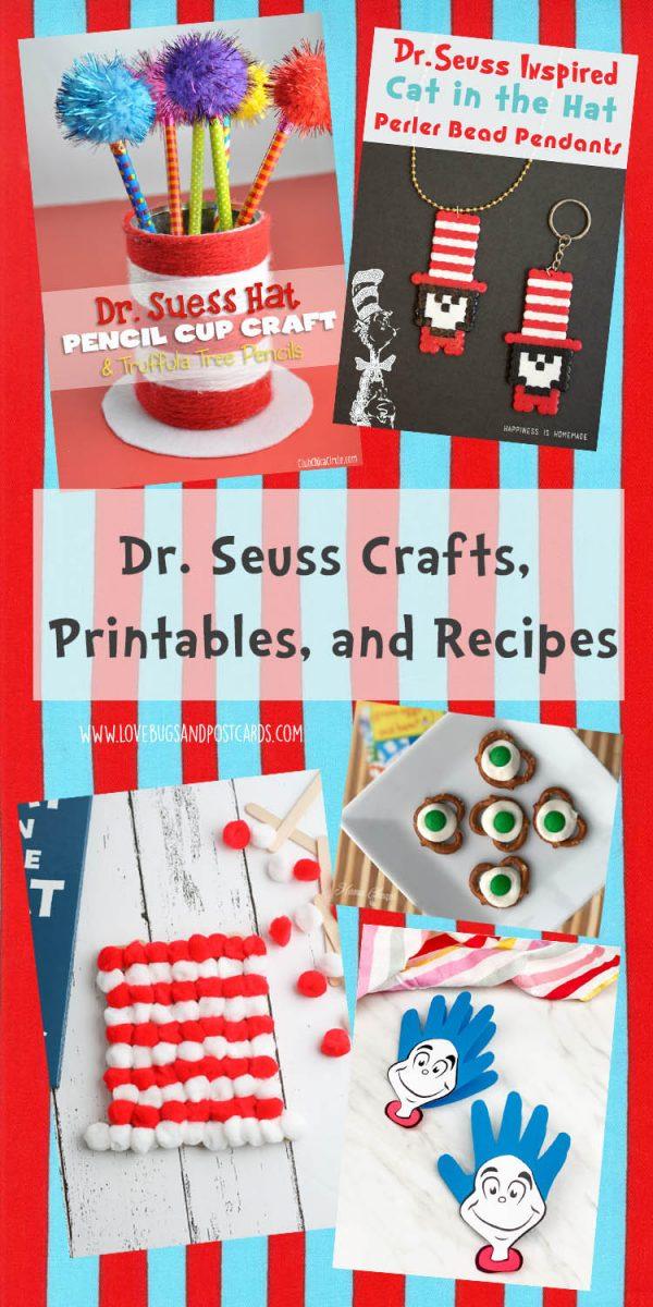 Dr. Seuss Crafts, Printables, and Recipes