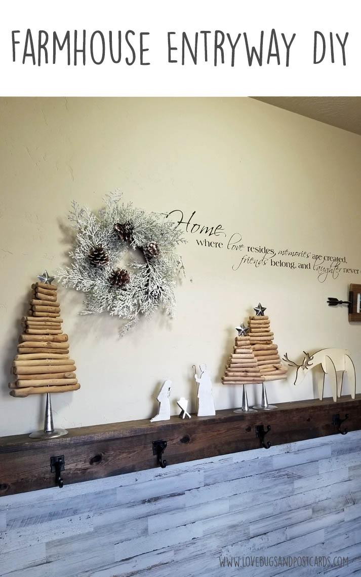 Farmhouse Entryway DIY