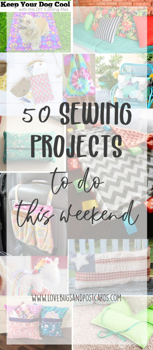 50 sewing projects to do this weekend