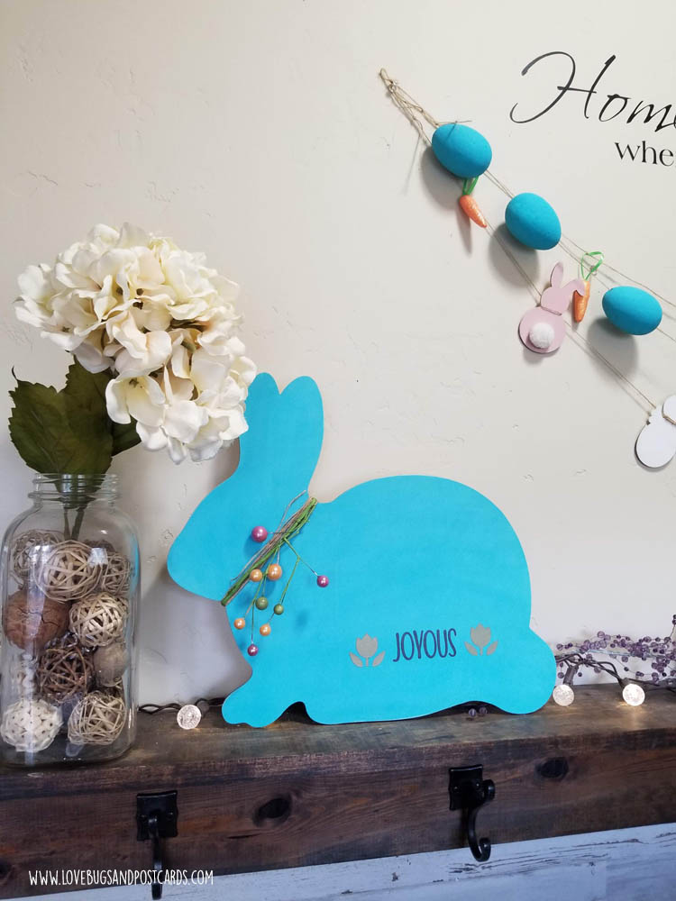 Farmhouse Bunny Sign {Easter}