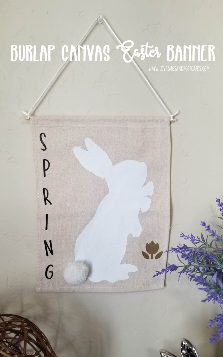 Burlap Canvas Farmhouse Easter Banner DIY