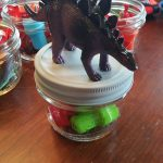 Dinosaur Mason Jar Party Favors