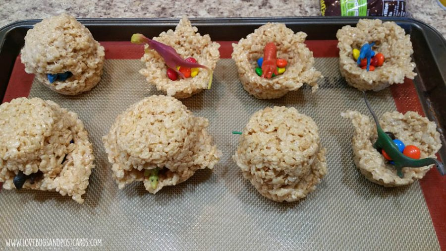 Dinosaur Eggs Rice Krispy Treats (Hidden Surprise)
