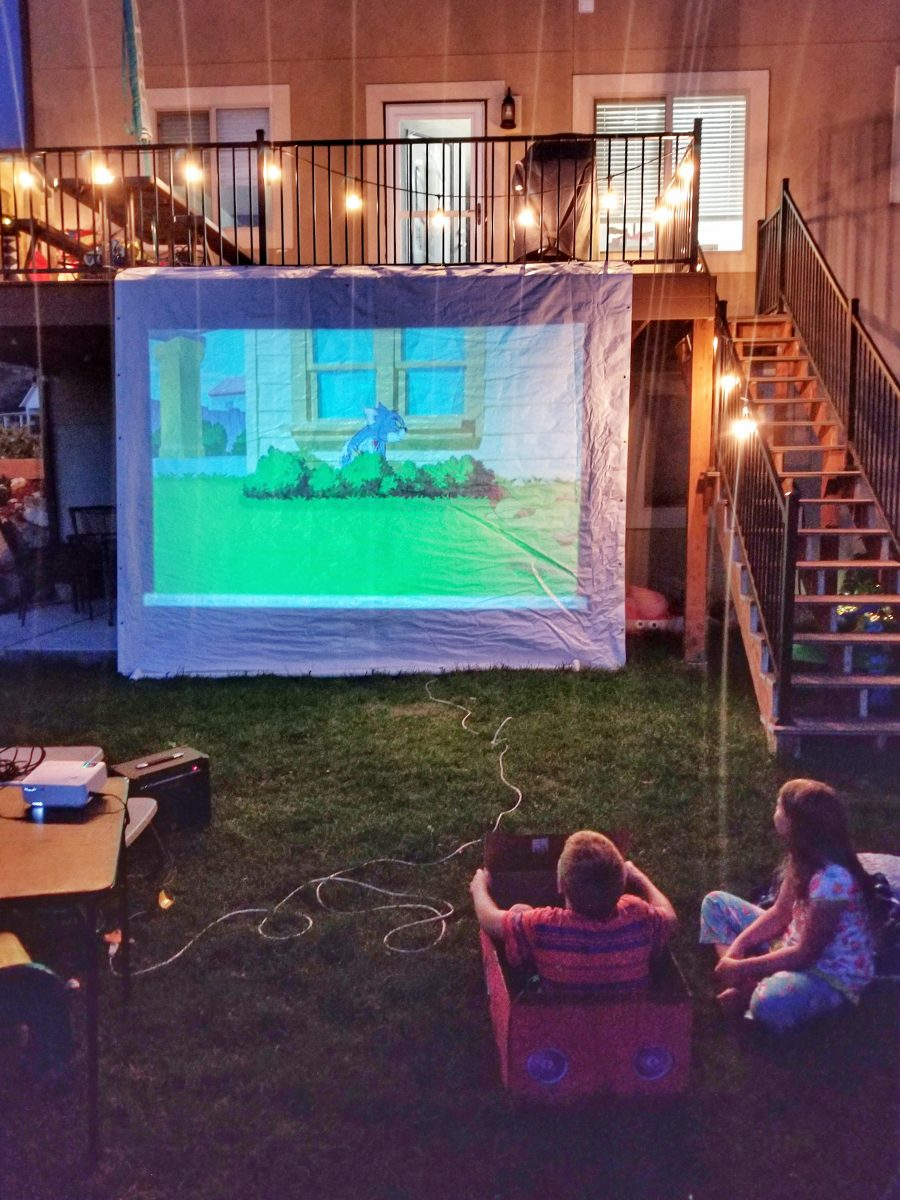 DIY Box Cars for at-home movie night