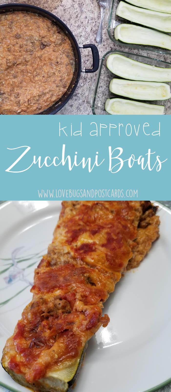 kid approved Zucchini Boats recipe - Italian Style
