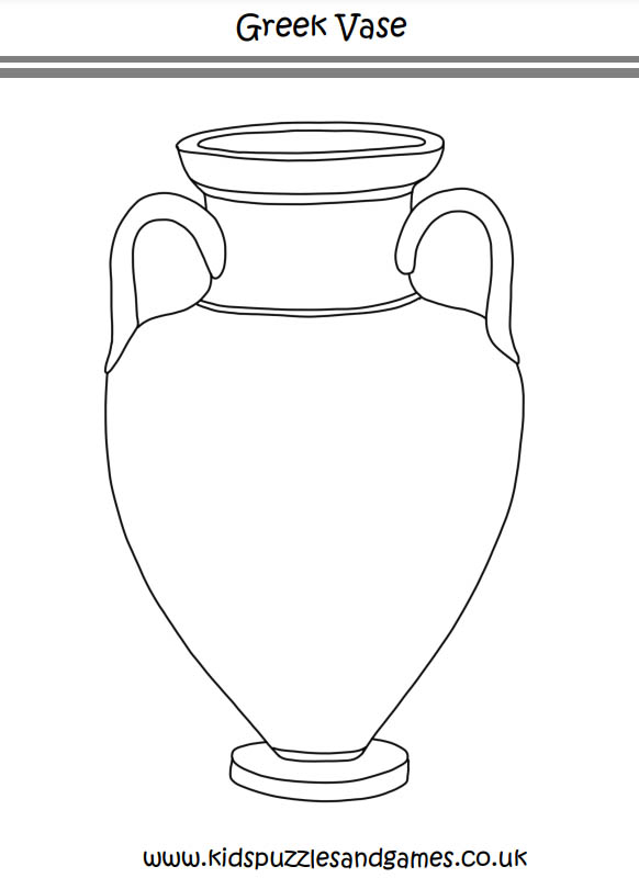 Greek Vase Printable Coloring Page