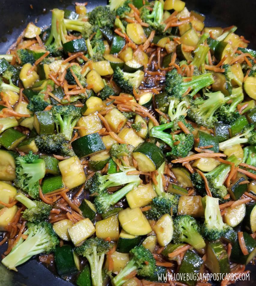 Rice Bowl Recipe (with veggies and teriyaki chicken)