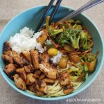 Rice Bowl Recipe (with veggies and teriyaki chicken)