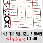 Free printable Valentine's Roll-A-Story