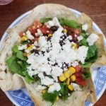 Taco Salad Recipe (with homemade tortilla bowls)
