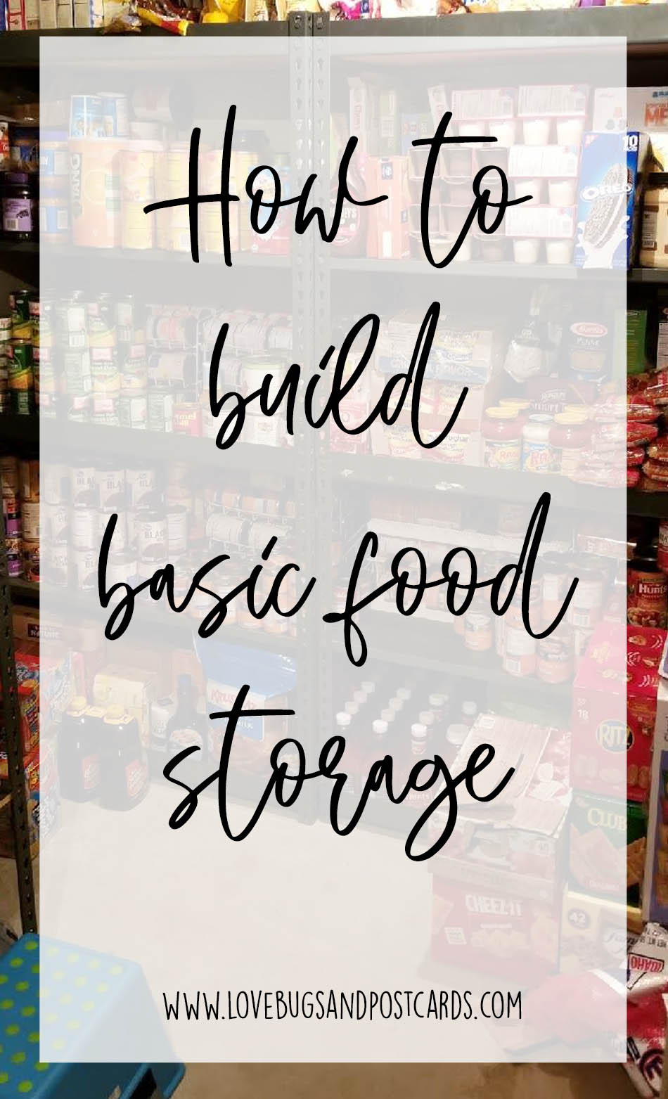 How to build a basic food storage
