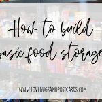 How to build basic food storage