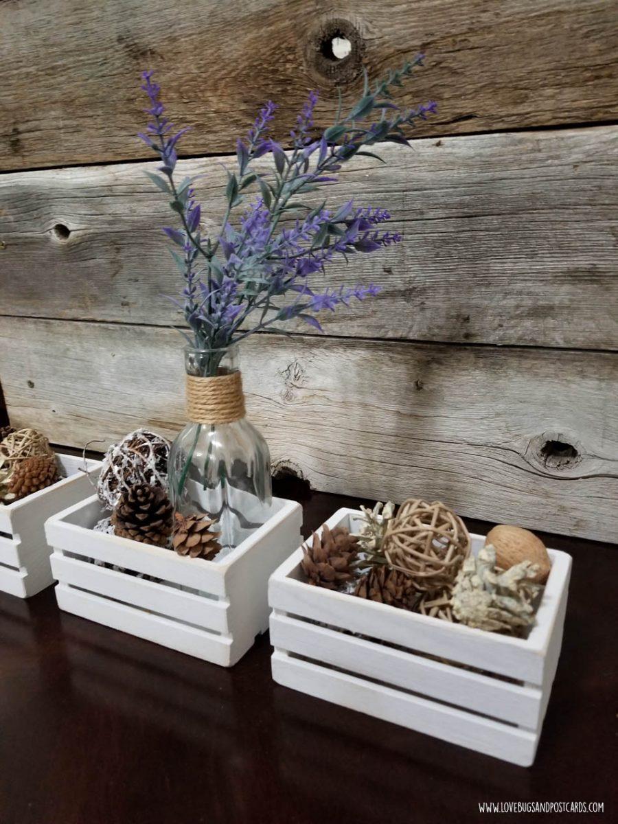 Farmhouse crates decor DIY