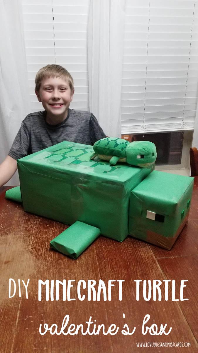 Minecraft Turtle Valentine's Box