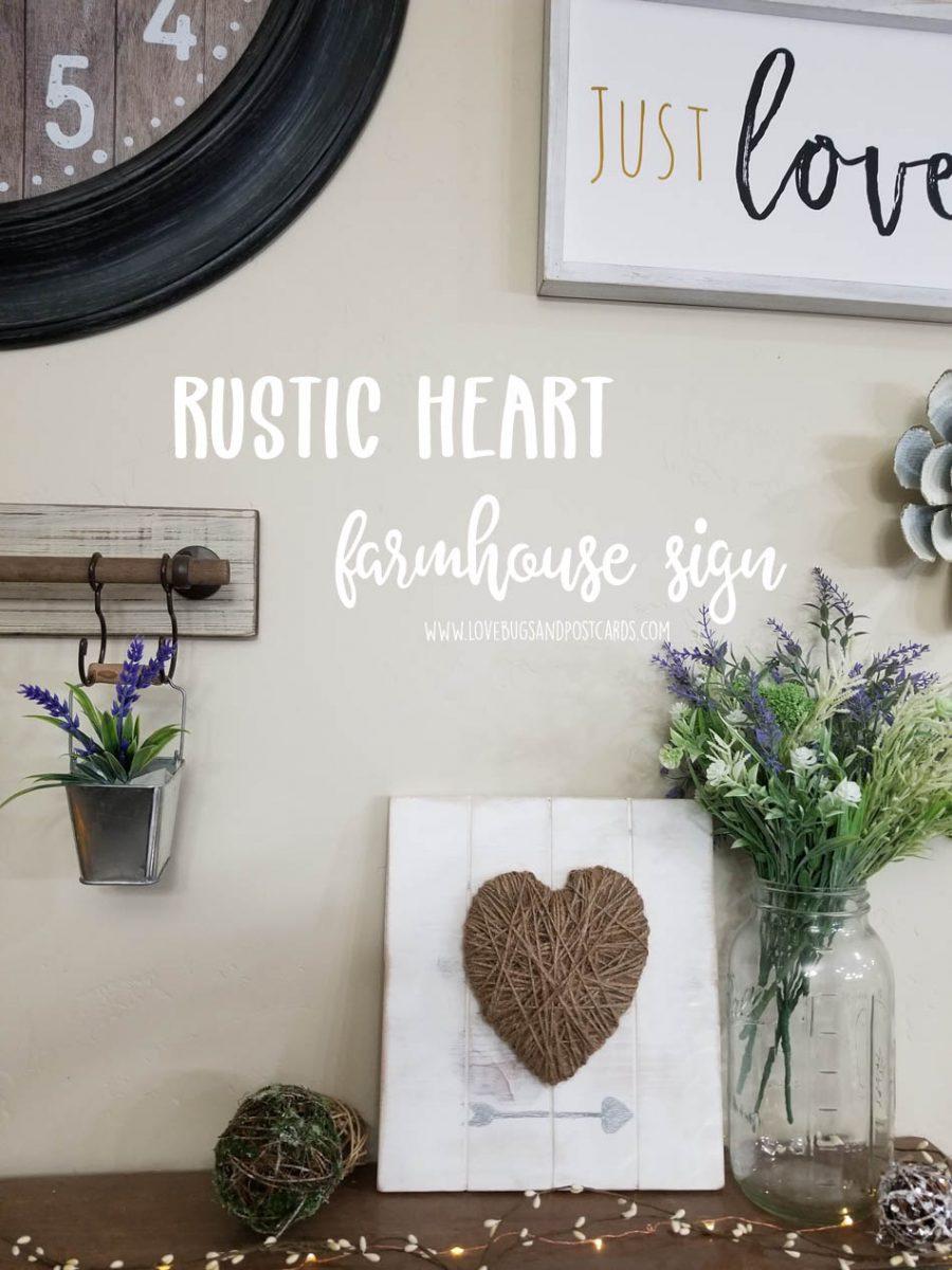 Rustic heart farmhouse sign
