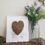Rustic heart farmhouse sign