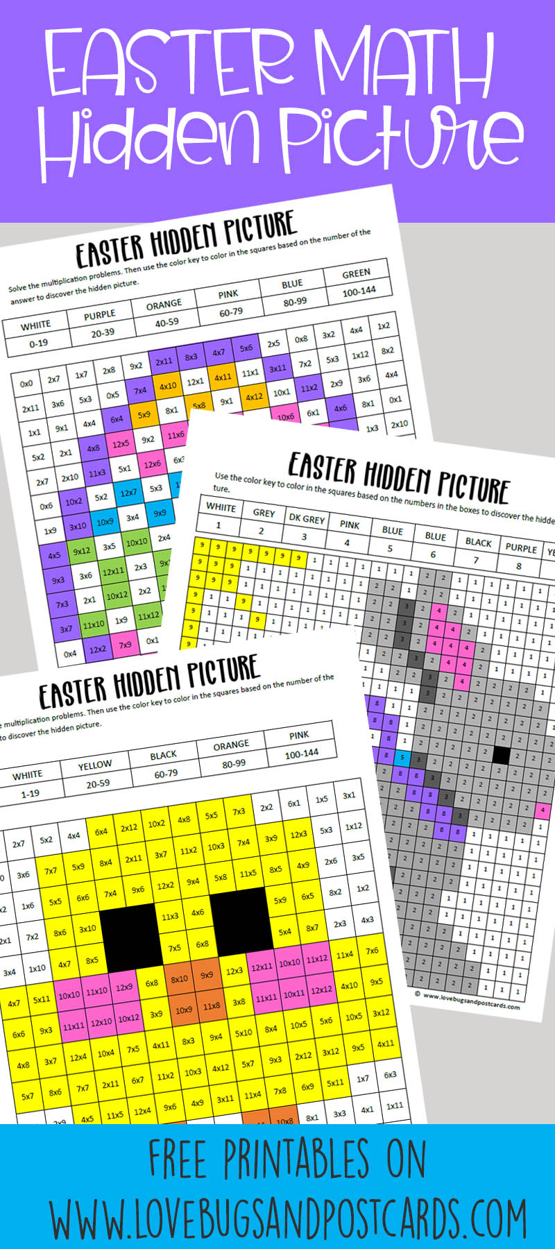 Easter Math Hidden Pictures Free Printables