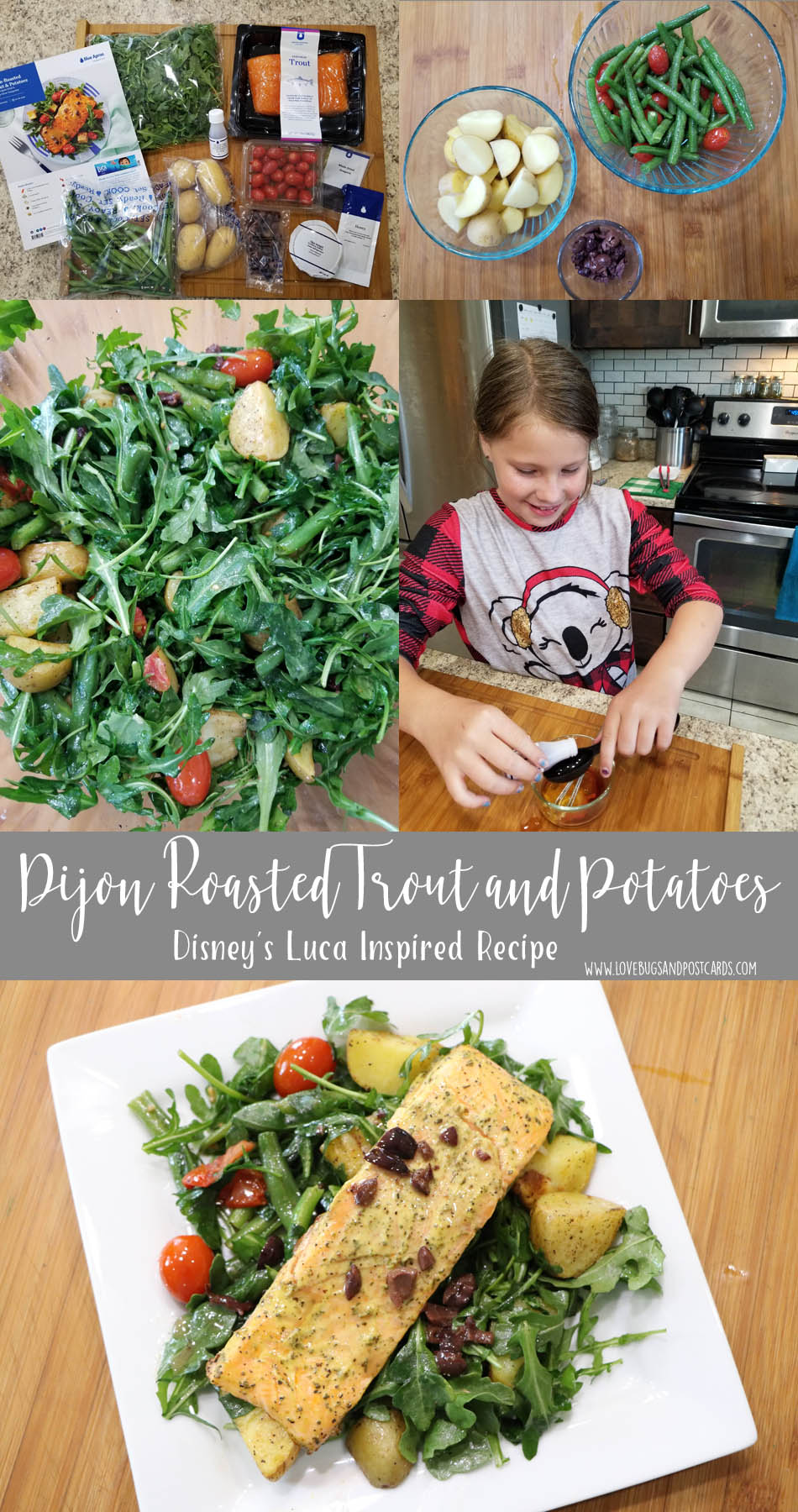 Get inspired by these Disney's Luca Recipes  - Dijon Roasted Trout and Potatoes