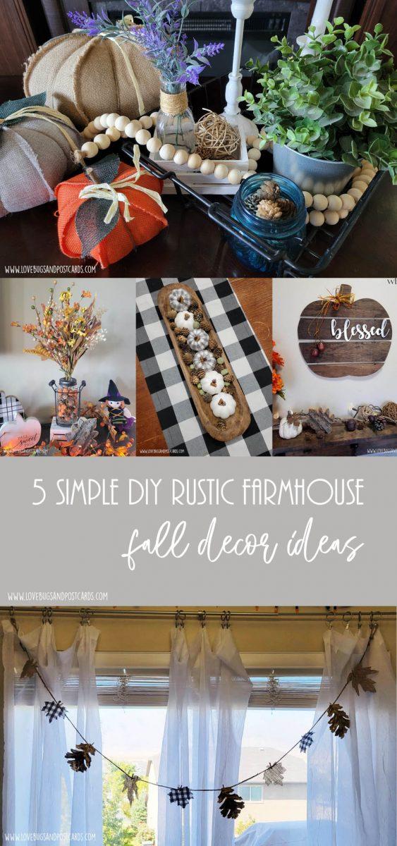 5 simple DIY rustic farmhouse fall decor ideas