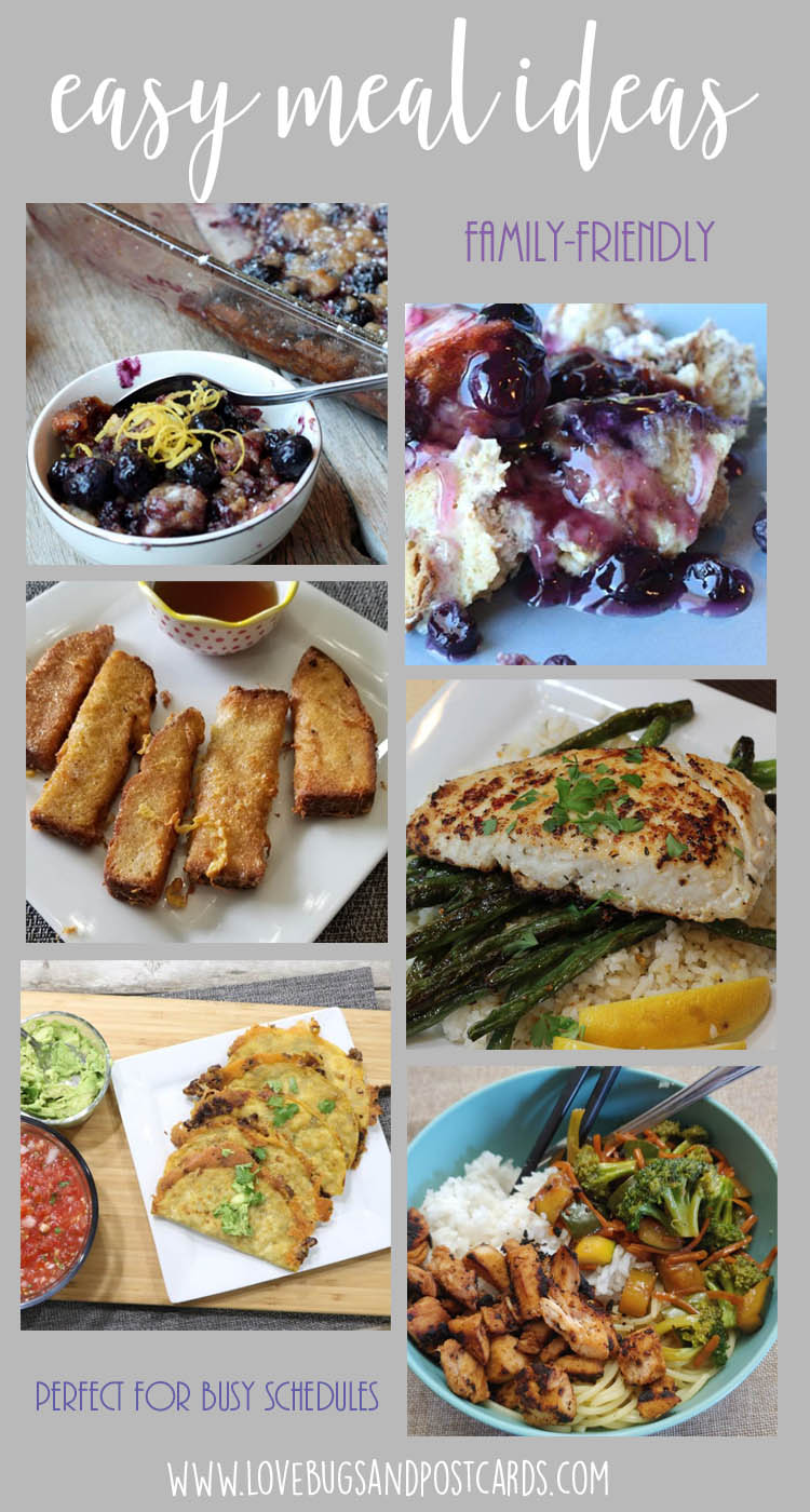 7 easy meal ideas (family-friendly) - Perfect for busy schedules and kids!
