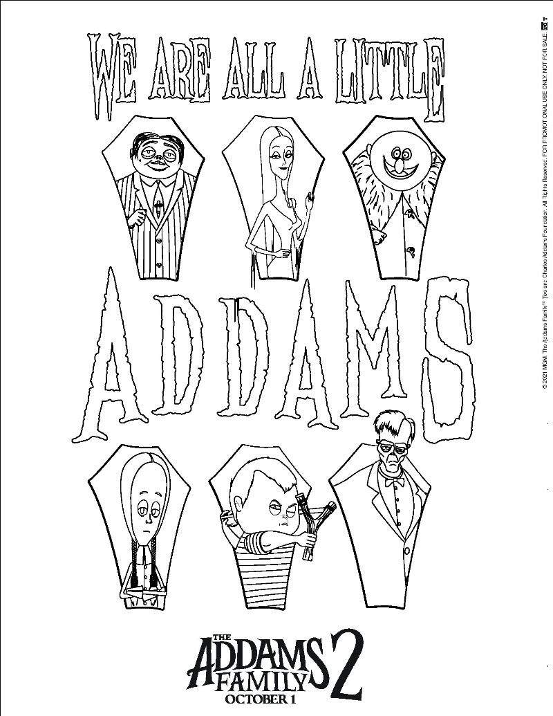 The Addams Family 2 Coloring Page
